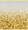 gold glitter particles vector image vector image
