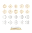 Golden silver mandala vector image vector image