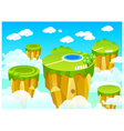 green landscape mountain top vector image vector image