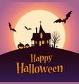 happy halloween card template vector image vector image
