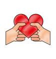 heart flat scribble vector image vector image