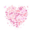 heart shape valentine day card for your design vector image vector image
