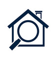 home icon - real estate sign vector image