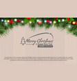 horizontal christmas border frame with fir vector image vector image