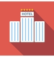 Hotel colored flat icon vector image