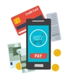 icon easy online mobile payment vector image vector image