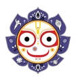 Jagannath Indian God of the Universe vector image vector image