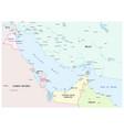 map persian gulf vector image