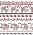 Mehndi Indian Henna tattoo seamless pattern vector image vector image