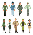 military uniforms set army officer