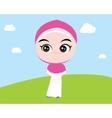 moslem islam girl vector image