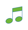 musical note tone vector image vector image