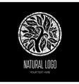 Natiral Logo grunge 01 2 vector image vector image