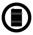 oil baller icon black color simple image vector image