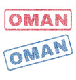 oman textile stamps vector image vector image