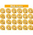 orange flat web icons vector image vector image