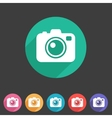Photo camera flat icon vector image vector image