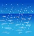 Rainy weather on street vector image vector image