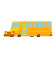 school bus isolated yellow bus for transportation vector image vector image