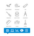 screwdriver plunger and repair toolbox icons