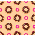 Seamless donuts pattern vector image