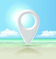 seashore pin vector image