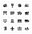 set icons logistic vector image