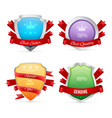 set of badges isolated on white vector image