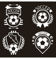 Set of sports labels with soccer football symbols vector image vector image