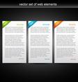 set of three web banner vector image vector image