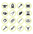 set round icons forge vector image