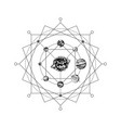 solar system sacred geometry vector image