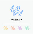 spacecraft spaceship ship space alien 5 color vector image