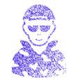 swat soldier icon grunge watermark vector image