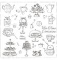 Tea time doodle set Sketch vector image vector image
