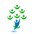 Teamwork group of people as a tree-logo vector image vector image