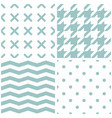 tile pattern set with mint green polka dots x vector image vector image
