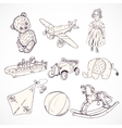 Toys sketch icons set vector image vector image