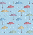umbrella seamless pattern raindrop background vector image