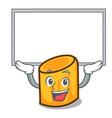 up board rigatoni character cartoon style vector image vector image