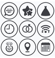 Wedding dress icon Bride and groom rings symbol vector image vector image