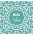 Winter background in beautiful mandala snowflake vector image vector image