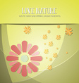 with nature and flower vector image vector image