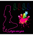 Woman silhouette night club girls vector | Price: 1 Credit (USD $1)