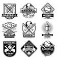 vintage baseball labels and emblems vector image