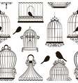 vintage bird cages pattern vector image