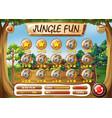 a jungle fun template vector image vector image
