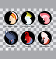 a set of head colored abstract australian cockatoo vector image vector image