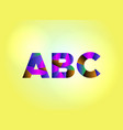 abc concept colorful word art vector image vector image