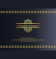 abstract gold elegant element design for ramadan vector image vector image
